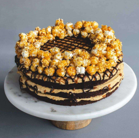 Deliver Caramel and chocolate cake